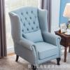 老虎椅美式布艺小户型单人沙发可定制