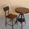 美式复古铁艺茶几 创意时尚洽谈桌椅组合休闲实木奶茶咖啡厅圆桌