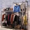 服装店衣架展示架水管复古怀旧双单层组合装修货架挂衣展架特价