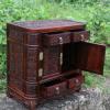 红木龙柜红酸枝多宝格红木雕家具摆件珠宝箱首饰盒床头柜摆件