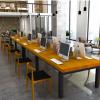 现代简约实木办公桌 职员办公室桌椅办公家具小型会议桌洽谈桌椅