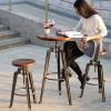 【厂家直销】复古实铁吧台酒吧桌椅 铁艺咖啡厅桌椅餐饮吧桌椅