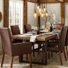 金煌铁艺美式实木餐桌椅长方形办公餐厅桌椅铁艺餐桌椅洽谈桌组合