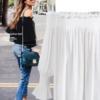 欧美大码女装2017秋季新款雪纺衫外贸宽松一字肩长袖雪纺衬衫衬衣