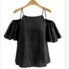 速卖通Ebay亚马逊夏季新款女装欧美大码宽松吊带短袖T恤衫打底衫