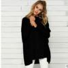 实拍 2018秋季新款长袖t恤女 速卖通wish束手中长款蝙蝠袖毛织上