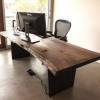 loft美式铁艺实木长方形办公桌 创意复古简易电脑会议桌定制