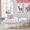 欧式包邮卧室铁艺床1.5米双人公主铁架床1.8m现代单人铁床架批发