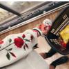 卫衣2017新款玫瑰刺绣黑白连帽卫衣女学生BF宽松加绒长袖外套7057