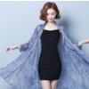 夏季桑蚕丝女款高档仿真丝防晒衫开衫中长款空调衫薄款外搭披肩