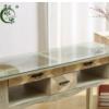 实木复古美甲桌子桌椅套装做旧指甲桌单人双三人美甲店工作台特价