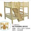 18年老厂TH童欢幼儿园樟子松双层四人床带楼梯 大气款 厂家直销