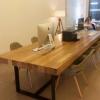 佳华家居 简约创意时尚办公桌椅户外酒吧休闲长桌 精工艺实木桌椅