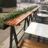 户外铁艺花箱花架落地式创意花架室外咖啡厅餐厅外摆花架吧台桌