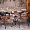 阳台桌椅户外休闲酒店小圆桌子酒吧咖啡奶茶甜品店桌椅三件套组合