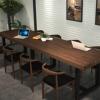 美式铁艺餐桌椅组合办公会议桌电脑桌服装店洽谈桌流水台大班台