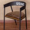 北欧复古圆形餐桌铁艺实木家用圆桌餐厅复古做旧餐桌椅组合可定制