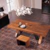 厂家直销美式乡村全实木餐桌厚重感咖啡厅餐厅酒店餐桌椅组合定制