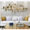 样板房客厅背景墙面金属壁饰壁挂件装饰品金属工艺品家居装饰