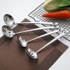 不锈钢火锅勺 汤壳漏勺批发定制logo 特厚5厘加长柄 小汤勺子