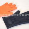 正品硅胶耐高温手套加厚款防滑烤箱手套矽胶隔热手套 五指