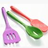 美国FDA认证硅胶滤勺耐高温230°无毒硅胶漏勺可定制颜色厂家直供