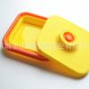 台灣客戶定製矽膠廚房用品折疊便當盒午餐盒 耐高溫矽膠伸縮飯盒