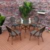 户外桌椅三五件套 庭院室外休闲单人藤椅露台阳台茶几桌椅