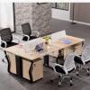简约现代组合办公家具电脑桌屏风员工桌4四人位职员办公桌椅厂家