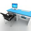 新款多功能升降电脑桌 职员办公双人升降电脑桌 简约现代功能桌~