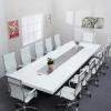 办公家具时尚烤漆会议桌创意大型办公桌洽谈接待长条桌工作室桌子