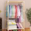 组装实木简易衣柜晾衣挂衣无布套置物无布套纯衣柜框架小号迷你型