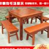 有毛坯八仙桌五件套东兴红木家具红木家具厂家定制红木家具餐桌