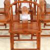 太师椅 厂家直销 围椅餐椅 古典式带扶手靠背餐椅白胚圈椅
