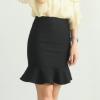 9.9包邮夏季新款纯色半身裙显瘦鱼尾裙包臀半身裙黑色短裙子