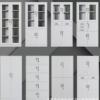厂家批发 文件柜 档案柜 储物铁皮柜 带锁玻璃柜 定制资料柜