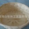 竹篮 竹编面包篮 竹片编织收纳篮 圆形手工编织篮