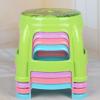 家用卡通儿童印花塑料圆凳子 赠品9.9元 低价地摊塑料凳子椅子