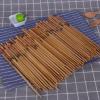 竹筷子无漆无蜡碳化酒店筷饭店餐厅家用印花筷50双100双