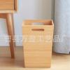 竹制垃圾桶家用 无盖客厅卧室杂物收纳桶 竹木民宿办公室纸篓