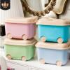 塑料收纳箱定制logo滑轮收纳箱卡通儿童玩具整理箱宝宝杂物储物箱