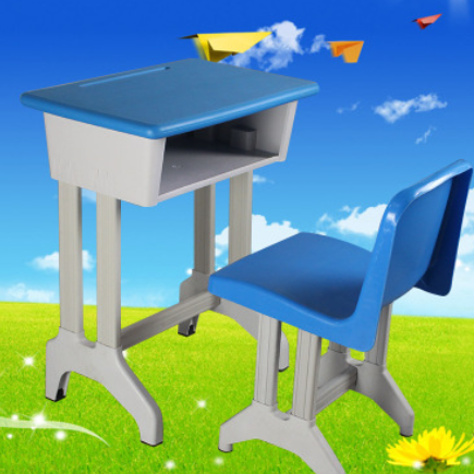 学生塑钢课桌椅厂家直销单人双人可升降学校培训辅导班儿童学习桌