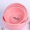 厂家直销炫彩竹节盆 家用塑料盆洗衣搓衣盆洗菜盆加厚多规格圆形