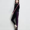 金丝绒长袖圆领上衣铅笔裤套装2018春季新款女装韩版时尚两件套潮