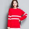 2018春季新品女士毛衣 韩版条纹宽松针织毛衣打底衫 显瘦针织衫女