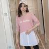 孕妇T恤女秋装韩版长袖上衣宽松中长款拼接裙子秋时尚款批发新款