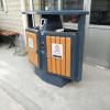 户外垃圾桶 果皮箱 环卫钢木垃圾桶 分类垃圾箱