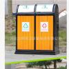 户外垃圾桶果皮箱 钢木公园小区分类垃圾箱室外环卫垃圾桶厂家直