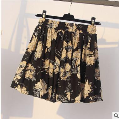 17129#【特价回馈款】实拍2018夏装新款大码女装雪纺宽松显瘦短裤