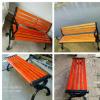 批发户外公园椅 铸铁铸铝靠背椅 小区广场椅 园林防腐木休闲椅